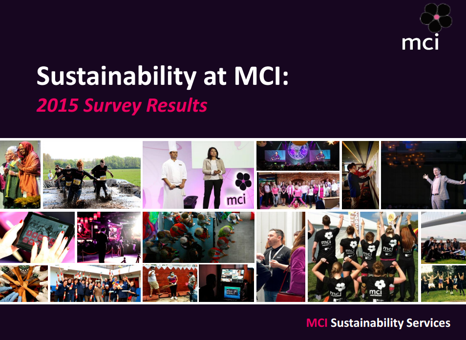 Sustainability at MCI: 2015 Survey Results